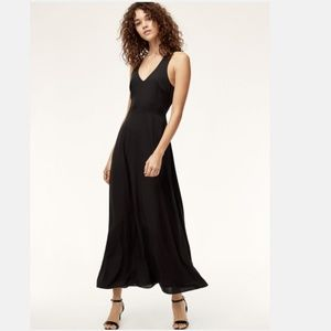Aritzia Talula Open Back Maxi Dress Black
